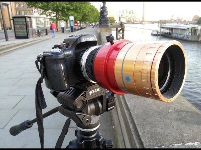 Panasonic GH2 Cinemascope lens Camera Hack