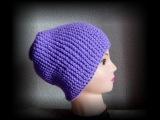 шапка чулок спицами поперечное вязание. шапка бини