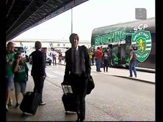 Sporting a caminho de Moscovo - Filmagem Aeroporto de Lisboa 24 Agosto 2015