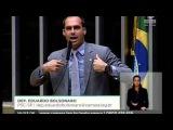 Eduardo Bolsonaro manda um recado para Senadores Lindbergh Farias e Humberto Costa.