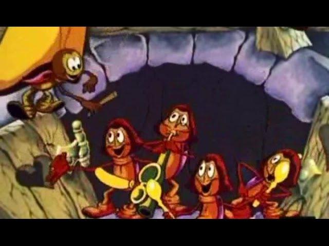 ♫ Четыре таракана и сверчок песня   Детские песни из советских мультфильмов
