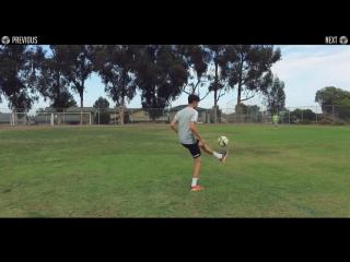Финт Рафаэля Варана на тренировке. Обучение. Raphael Varane Amazing First Touch - Football Tutorial