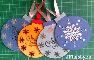 Новогодние открытки своими руками из картона и бумаги