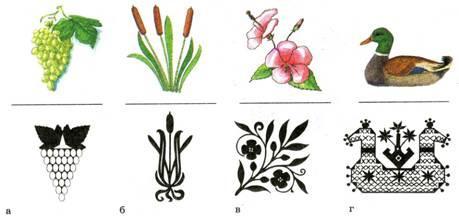 стилизация растений в орнаменте