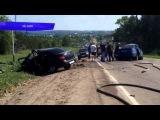 ДТП Гранта и Нексия три человека погибли Уржумский. Место происшествия 22.05.2015