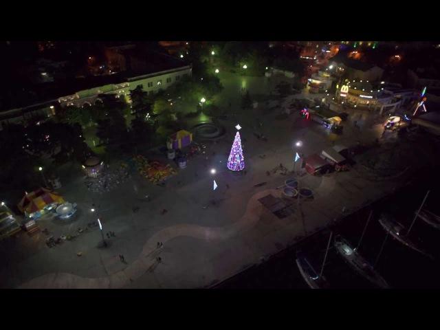 FreeCam - Зимняя Ялта в полёте - Аэросъемка Ялта - Ялта с высоты птичьего полёта Аэро ...