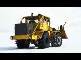 K700A im Wintereinsatz Insel Rügen 2013 Кировец К 700A трактор К-700 снегоочиститель Snow plow