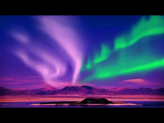 Relax Music Stunning Aurora Borealis - Northern Polar Lights - 2 Hours - HD 1080P