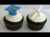 Cup cakes con detalles de graduación