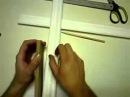 Как отрезать угол плинтуса или багета без стусла. how to cut baseboard without a miter box