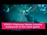 Final Fantasy 15 Platinum Demo trailer - Carbuncle is adorable edition