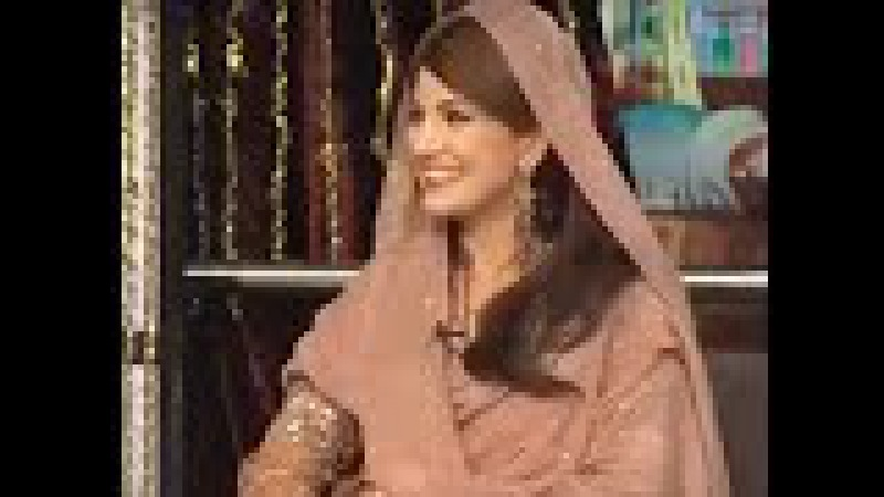 Listen Reham Khan speaking Punjabi in Mazaaq Raat