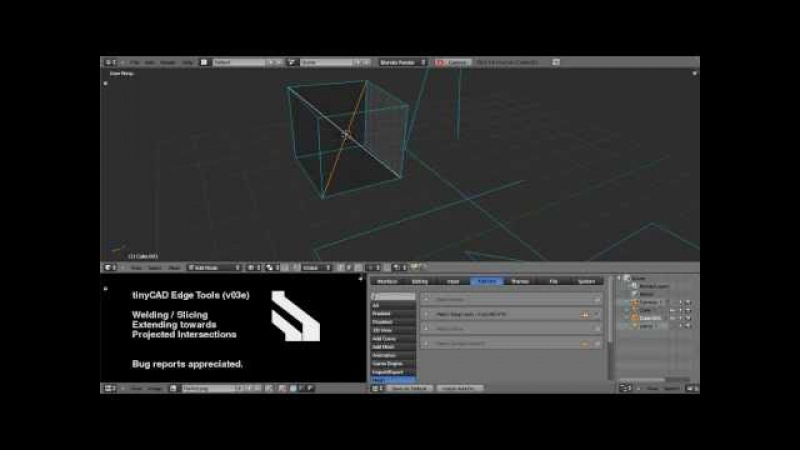 Blender 2.5x CAD style Edge Tools VTX (v0.3e)