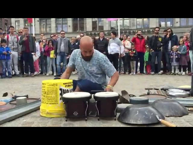 Incredible drummer in Amsterdam © trash rave techno Dario Rossi Drummer