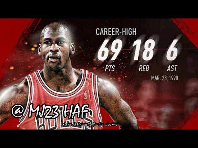 Michael Jordan Career High Highlights vs Cavaliers (1990.03.28) - 69pts! (HD 720p 60fps)