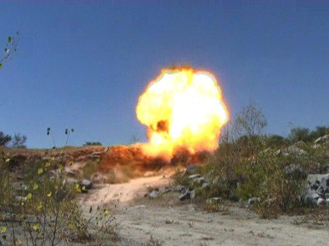 Недалеко от Таганрога группа разминирования уничтожила 120мм мину