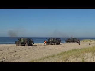 Учения противовоздушной бригады и моторизованных подразделений ВС Польши на военном полигоне Ustce, сентябрь 2015 года