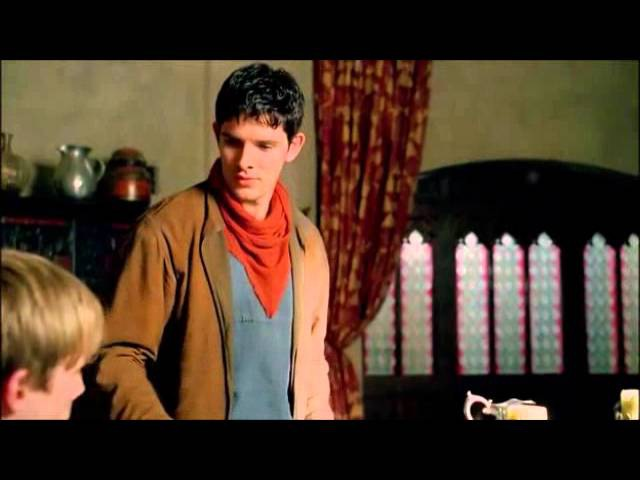 Merlin Arthur 5x03:You're threatening me with a spoon?!?scene