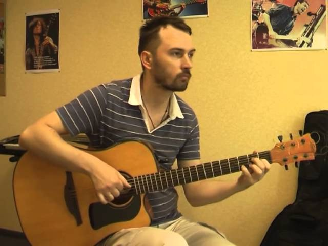 Спи собі сама - Скрябін (кавер на гитаре Валерий Трощинков)