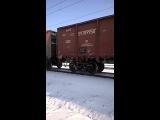 Вл80к-123  с грузовым поездом