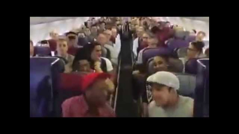 Флэшмоб в самолете песня из Король Лев