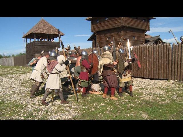 Штурм крепости на фестивале Сугорье