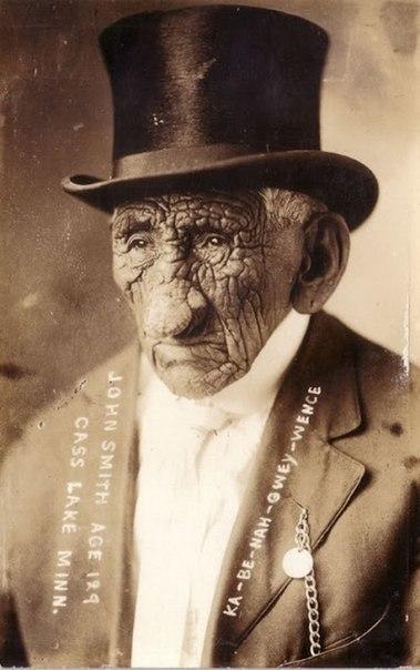 Индеец по имени Ка-Nah-Be-Owey Wence жил в трёх столетиях с 1791 по 1920 год.