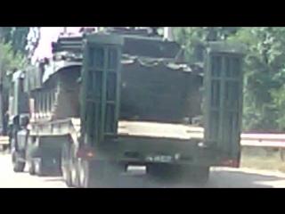 В Крыму перевернулся танк на трассе Симферополь - Алушта - Ялта (Перевальное 10.07.2015)