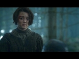 Arya Stark kills her first man