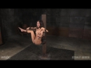 Унижает рабыню привязанную к столбу. Порно БДСМ. Kalina Ryu - Maestro - Jack Hammer