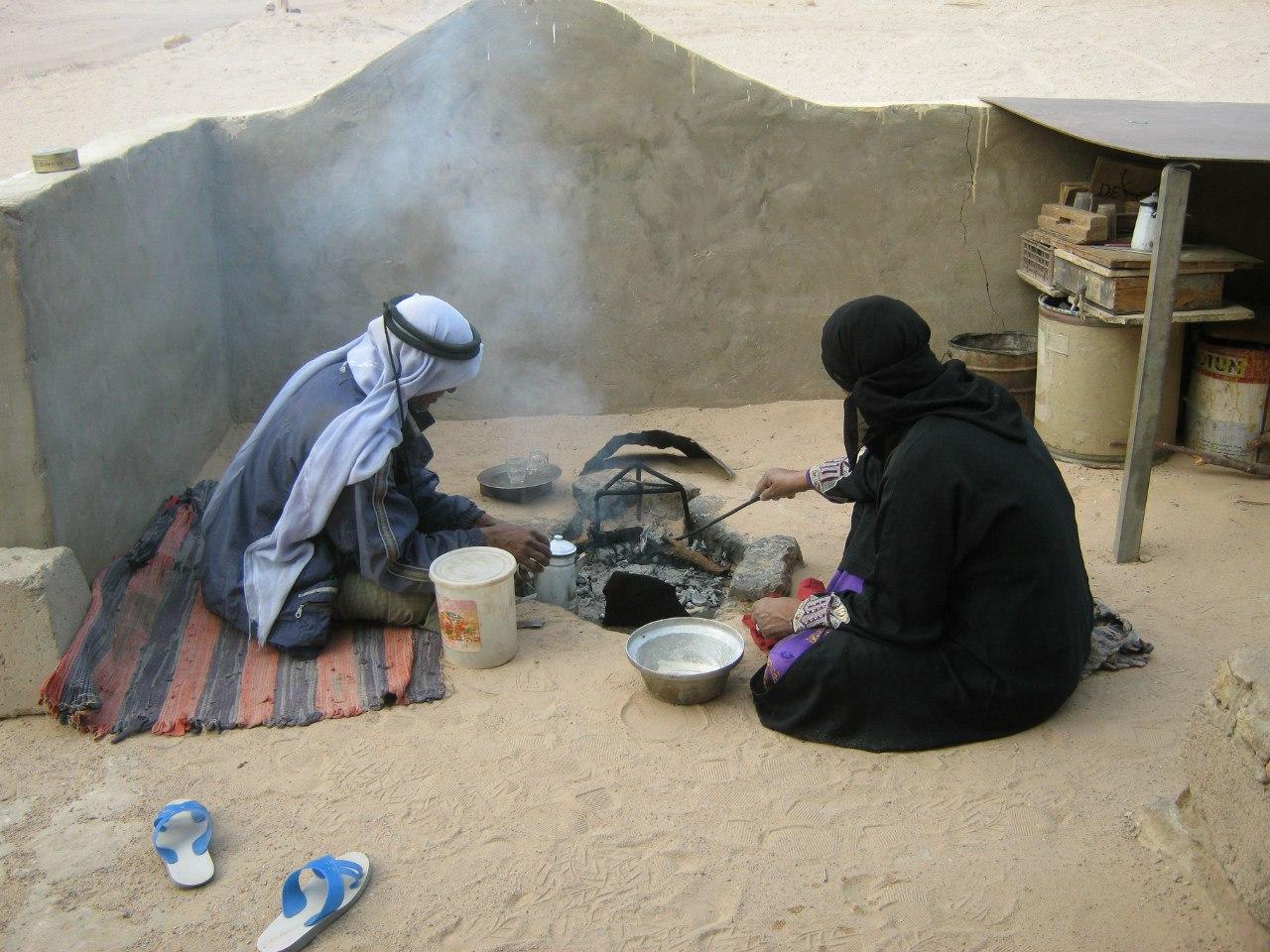Бедуины готовят завтрак
