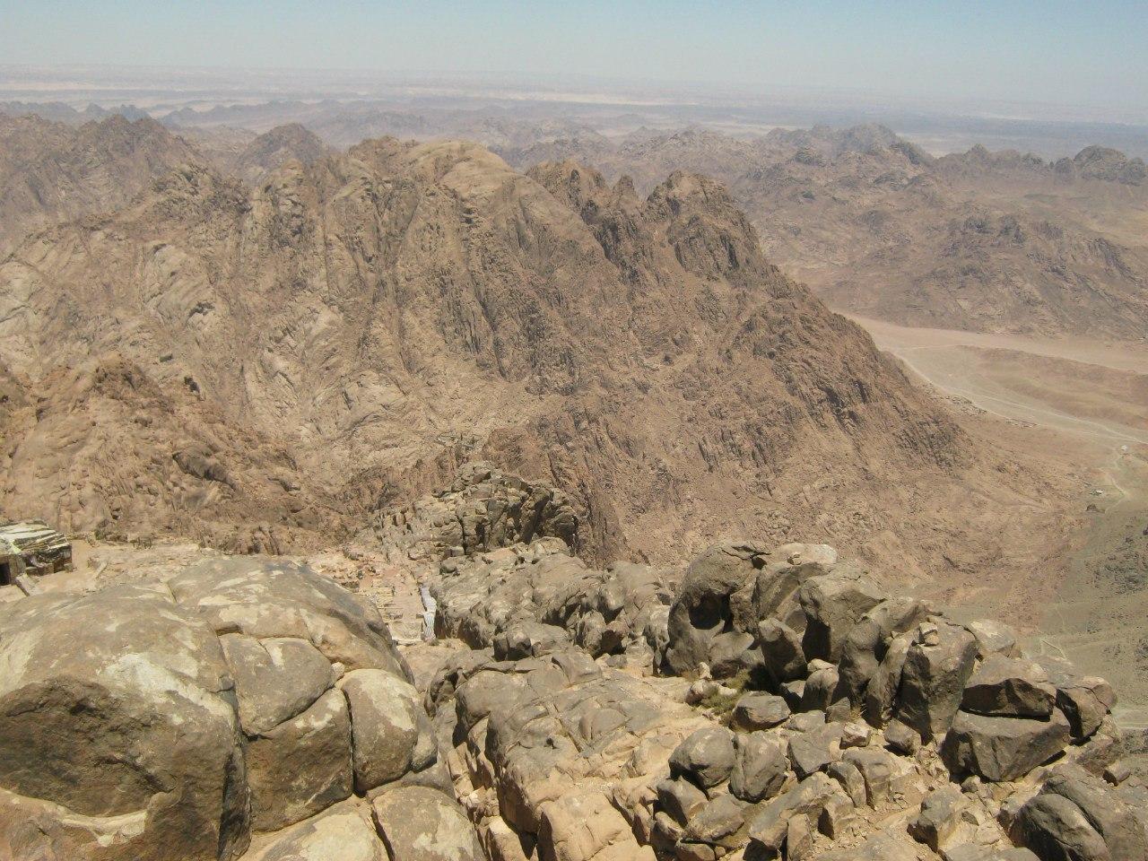 Вид с вершины горы Моисея