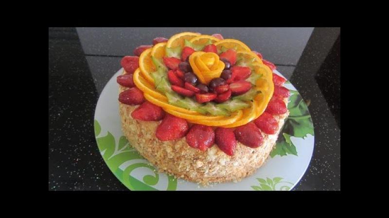 Украшение торта фруктами clip dạy cách trang trí bánh kem rất đơn giản   công thức làm bánh kem