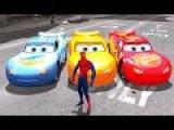 Disney Pixar Cars Lightning McQueen Colors Spiderman Hulk & Nursery Rhymes Songs (Children Songs)