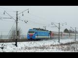 Электровоз ЭП1М-429 со скорым фирменным поездом