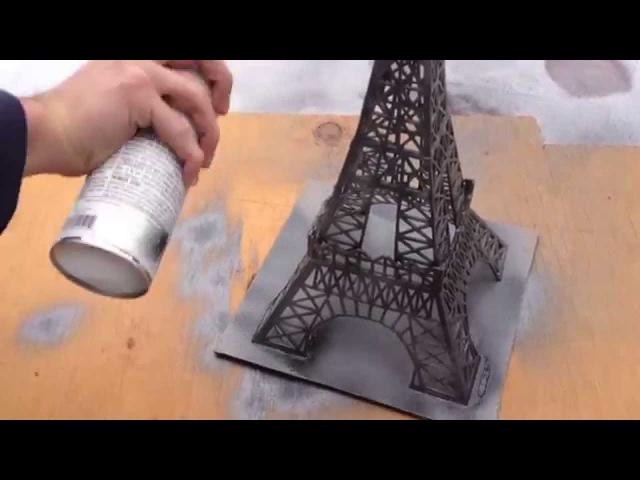 Construction de la Tour Eiffel en bâtons d'allumettes ||| INSTAGRAM: @marchelonikolov