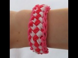Rainbow Loom- How to Make a Chinese Finger Trap Bracelet (Original Design, UPDATED Tutorial)
