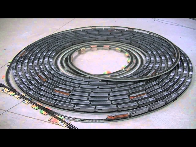 The spiral with Ho Scale ( side view )
