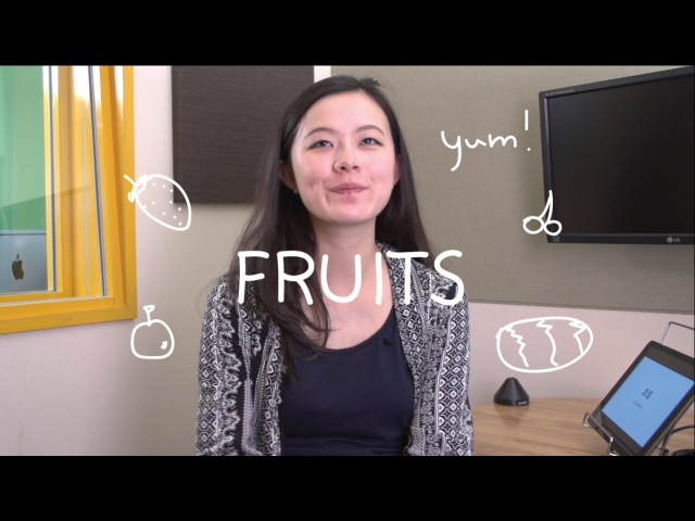 Weekly Chinese Words with Yinru - Fruits