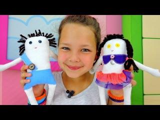 Лучшая подружка Настя - пришиваем пуговицы Мусе и Пусе. Видео для детей.