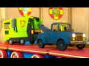 Учим английские буквы и слова с паровозиком Максом. Мультфильм про машинки и паровозик.