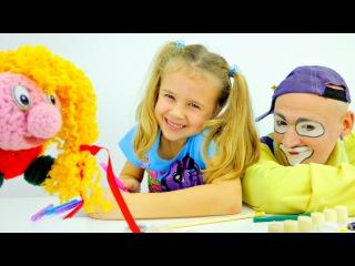 Funny Clown Videos for children. Clown Andrew and Ksusha. Смешное видео для детей. Клоуны