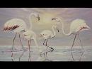 Рисуем восход солнца, небо, море и розовых фламинго. Урок живописи маслом