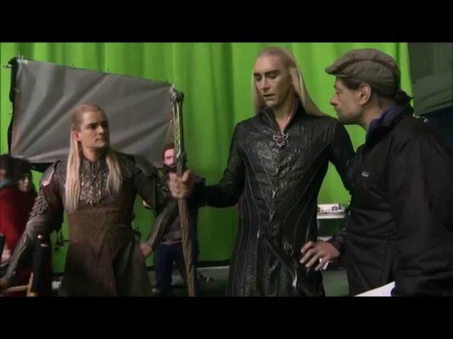 Thranduil And Legolas Behind The Scenes - Thranduil Legolas (Unused Scene)