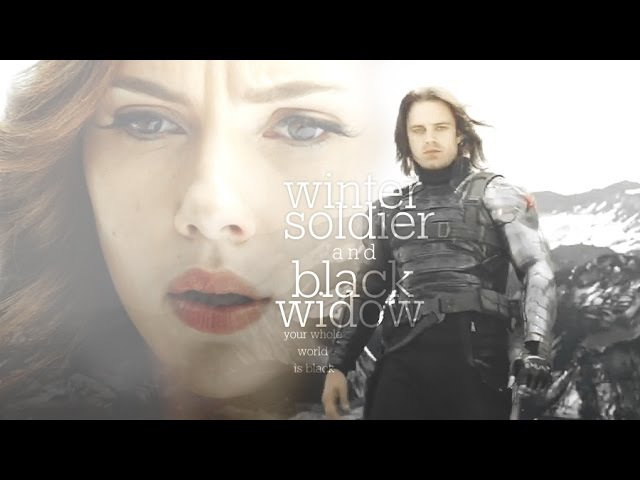 Winter soldier black widow   your whole world is black
