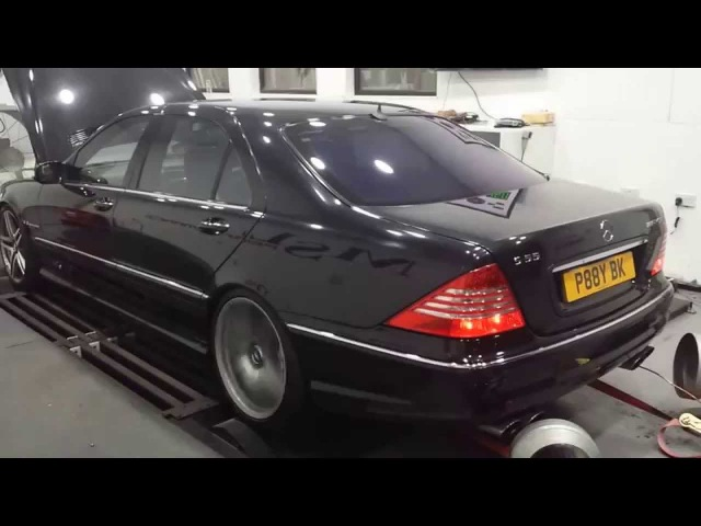 Mercedes S55 V8 Kompressor on Dyno