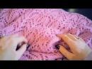 Модный стильный нежный АЖУРНЫЙ ШАРФ спицами Современное вязание в тренде