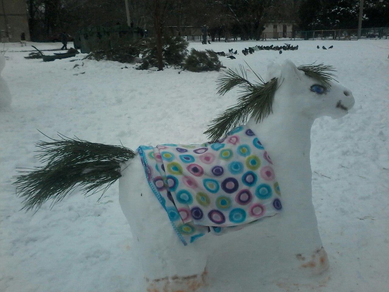 В Херсоне обнаружен снежный пони (фото)