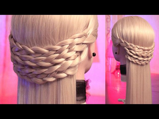 Горизонтальные косички | Авторские причёски | Лена Роговая | Hairstyles by REM | Copyright ©