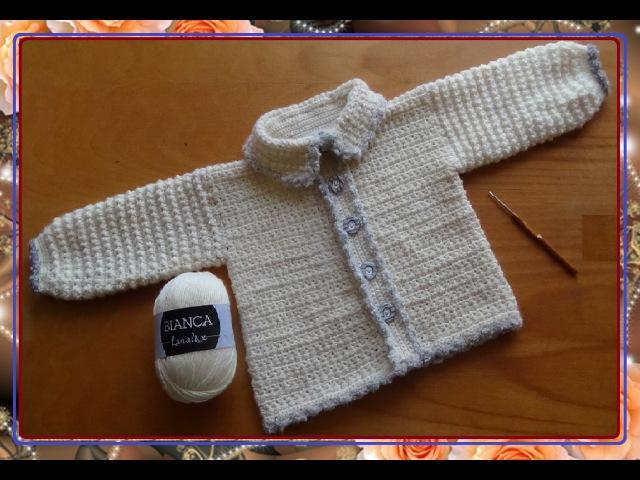 Жакет с узором ЗВЕЗДОЧКИ. Часть 2 .Knit crochet - jacket patterned with an asterisk. Part 1 .